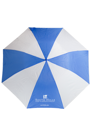 South Hills Blue & White Umbrella