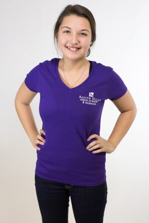 South Hills Women's Purple V-Neck